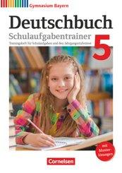 Deutschbuch, Gymnasium Bayern, Neubearbeitung: 5. Jahrgangsstufe, Schulaufgabentrainer mit Musterlösungen