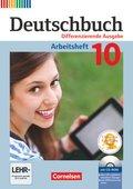Deutschbuch, Differenzierende Ausgabe: 10. Schuljahr, Arbeitsheft mit CD-ROM