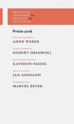 Deutsche Akademie für Sprache und Dichtung: Preise 2016