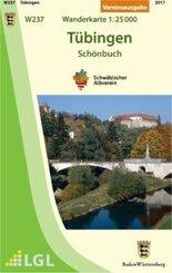Topographische Wanderkarte Baden-Württemberg Tübingen - Schönbuch
