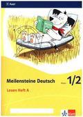 Meilensteine Deutsch (2017): 1./2. Schuljahr, Lesen Heft A-D, 4 Bde.