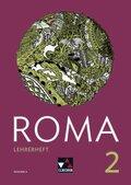 Roma, Ausgabe A: Lehrerheft 2, m. CD-ROM