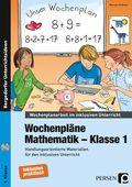 Wochenpläne Mathematik - Klasse 1, m. CD-ROM