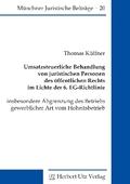 Umsatzsteuerliche Behandlung von juristischen Personen des öffentlichen Rechts im Lichte der 6. EG-Richtlinie