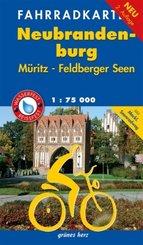 Fahrradkarte Neubrandenburg, Müritz, Feldberger Seen wasser- und reißfest
