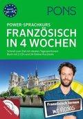 PONS Power-Sprachkurs Französisch in 4 Wochen, Buch mit 2 Audio-MP3-CDs und Online-Kurztests