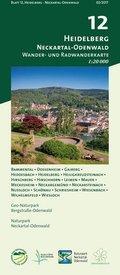 Odenwald Freizeitkarte Heidelberg - Neckartal-Odenwald