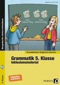 Grammatik 5. Klasse - Inklusionsmaterial Englisch, m. CD-ROM