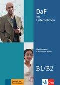 DaF im Unternehmen: 4 Audio-CDs + DVD; .B1-B2