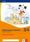 Meilensteine Deutsch in kleinen Schritten (2017): 3/4. Schuljahr, Grammatik Heft A