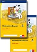 Meilensteine Deutsch (2017): 4. Schuljahr, Lesen Heft A+B, 2 Bde.