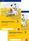 Meilensteine Deutsch in kleinen Schritten (2017): 3. Schuljahr, Lesen Heft A+B, 2 Bde.
