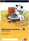 Meilensteine Deutsch in kleinen Schritten (2017): 4. Schuljahr, Lesen Heft A+B, 2 Bde.