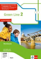 Green Line, Ausgabe Bayern ab 2017: 6. Schuljahr, Workbook mit 2 Audio-CDs und Übungssoftware; Bd.2