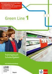 Green Line, Ausgabe Bayern ab 2017: 5. Schuljahr, Trainingsbuch Schulaufgaben mit Lösungen und CD-ROM; 1