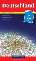 Kümmerly+Frey Karte Deutschland 1:750 000 mit Parkscheibe Straßenkarte