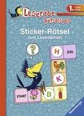 Leserabe, Rätselspaß - Sticker-Rätsel zum Lesenlernen (blau)