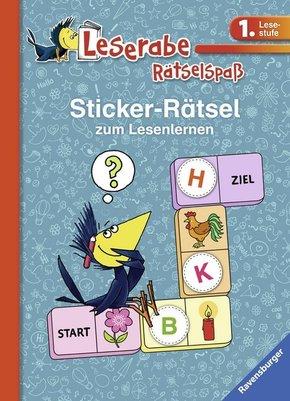 Sticker-Rätsel zum Lesenlernen (blau)