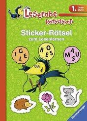 Sticker-Rätsel zum Lesenlernen (grün) 1. Lesestufe