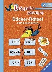 Sticker-Rätsel zum Lesenlernen - Leserabe, Rätselspaß (2. Lesestufe)
