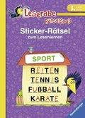 Leserabe, Rätselspaß - Sticker-Rätsel zum Lesenlernen, 3. Lesestufe
