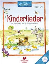 Kinderlieder, für 1-2 Sopranblockflöten, m. Audio-CD
