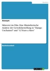 """Sklaverei im Film. Eine filmästhetische Analyse der Gewaltdarstellung in """"Django Unchained"""" und """"12 Years a Slave"""""""
