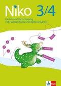 Niko, Ausgabe ab 2014: 3./4. Schuljahr, Kartei zum Wörtertraining mit Handreichungen und Stationenkarten