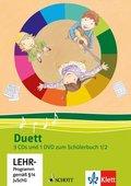 Duett, Ausgabe Grundschule, Neubearbeitung: 1./2. Schuljahr, 3 Audio-CDs und 1 Video-DVD zum Schülerbuch