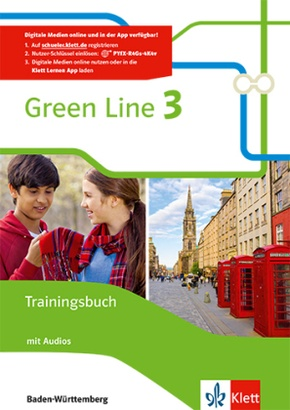 Green Line, Ausgabe für Baden-Württemberg ab 2016: 7. Klasse, Trainingsbuch mit Audio-CD