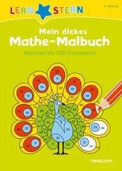Mein dickes Mathe-Malbuch, Rechnen bis 100 / Einmaleins