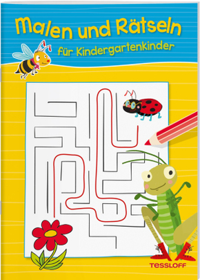 Malen und Rätseln für Kindergartenkinder (Gelb)