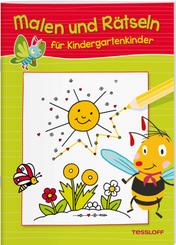 Malen und Rätseln für Kindergartenkinder (Grün)