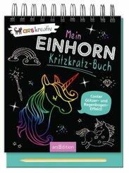 Mein Einhorn-Kritzkratz-Buch, m. Holzstift