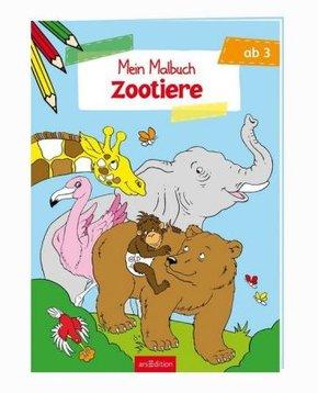 Malbuch ab 3 - Zootiere
