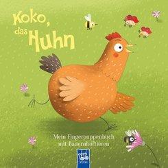 Mein Fingerpuppenbuch mit Bauernhoftieren - Koko, das Huhn