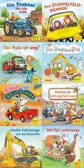 Pixi Bücher: Pixi-Buch 2239-2246 (Pixis bunte Fahrzeuge); Serie.247 (64 Expl. (8 Titel))