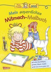Conni Gelbe Reihe (Beschäftigungsbuch): Mein superdickes Mitmach-Malbuch