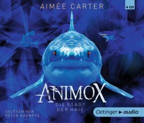 Animox. Die Stadt der Haie, 4 Audio-CDs