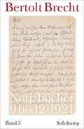 Notizbücher: Notizbücher 1921; Bd.3