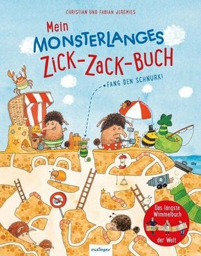 Mein monsterlanges Zick-Zack-Buch: Fang den Schnurk! Das längste Wimmelbuch der Welt