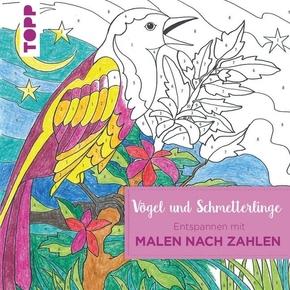 Entspannen Mit Malen Nach Zahlen Vögel Und Schmetterlinge