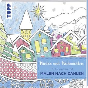 Entspannen mit Malen nach Zahlen - Winter und Weihnachten