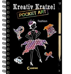 Kreativ-Kratzel Pocket Art - Fashion