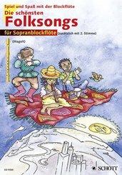 Die schönsten Folksongs, 1-2 Sopran-Blockflöten