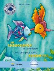 Der Regenbogenfisch lernt verlieren, Deutsch-Englisch