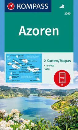 Azoren Karte Weltatlas.Kompass Wanderkarte Azoren Terrashop De