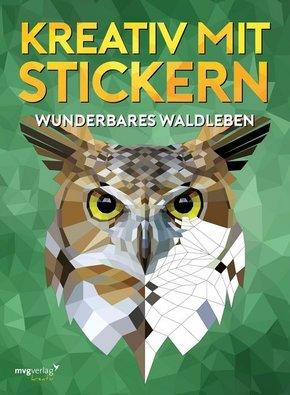 Kreativ mit Stickern - Wundervolles Waldleben