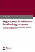 Pragmatismus in politischen Entscheidungsprozessen