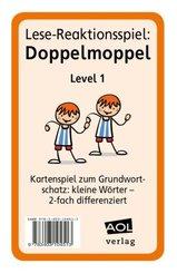 Lese-Reaktionsspiel: Doppelmoppel Level 1